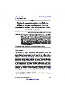 Study of mass attenuation coefficients, effective atomic numbers and ...