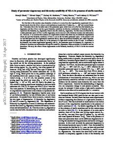 Study of parameter degeneracy and hierarchy sensitivity of NO $\nu ...