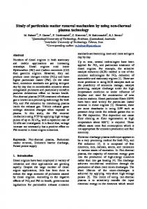 Study of particulate matter removal mechanism by