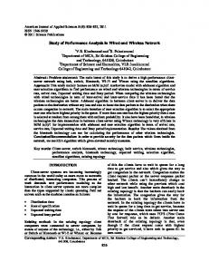 Study of Performance Analysis in Wired and Wireless Network