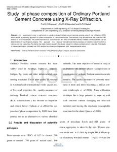 Study of phase composition of Ordinary Portland Cement ... - Ijser