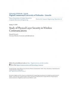 Study of Physical Layer Security in Wireless Communications
