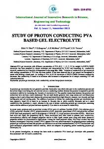 study of proton conducting pva based gel electrolyte - ijirset