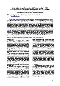 Study of Sea Surface Temperature (SST) using