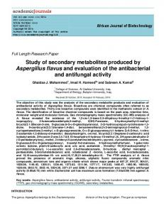 Study of secondary metabolites produced by ...