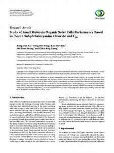 Study of Small Molecule Organic Solar Cells Performance Based on