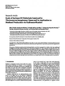 Study of Soybean Oil Hydrolysis Catalyzed by Thermomyces ...