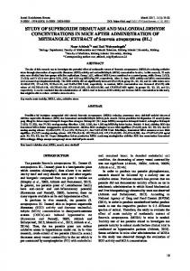 STUDY OF SUPEROXIDE DISMUTASE AND