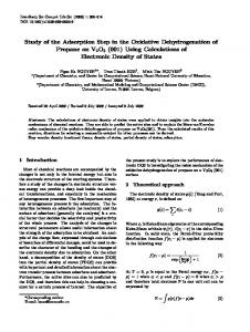 Study of the Adsorption Step in the Oxidative ... - Springer Link