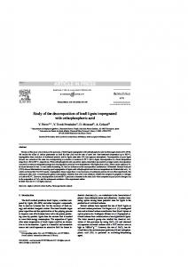 Study of the decomposition of kraft lignin impregnated