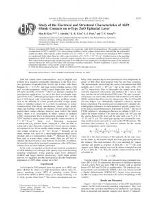 Study of the Electrical and Structural Characteristics of ... - CiteSeerX