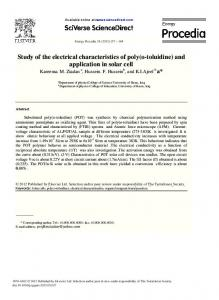 Study of the electrical characteristics of poly(o-toluidine)