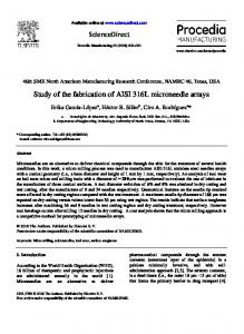 Study of the fabrication of AISI 316L microneedle arrays