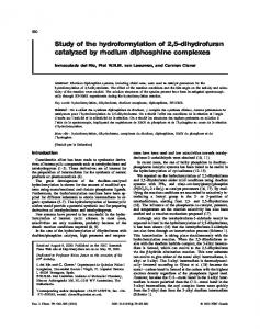 Study of the hydroformylation of 2,5-dihydrofuran catalyzed by