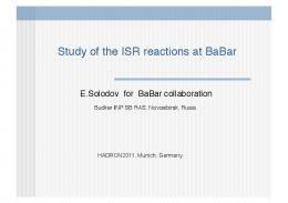Study of the ISR reactions at BaBar