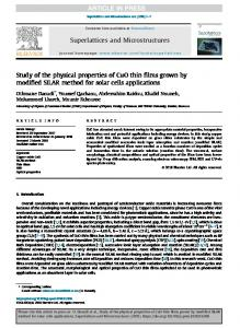 Study of the physical properties of CuO thin films