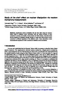 Study of the shell effect on nuclear dissipation via neutron multiplicity ...