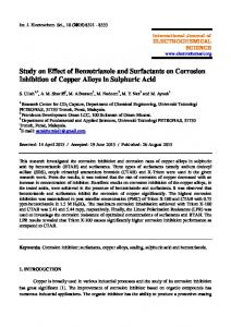 Study on Effect of Benzotriazole and Surfactants on Corrosion