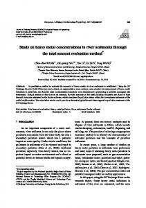 Study on heavy metal concentrations in river sediments ... - Springer Link