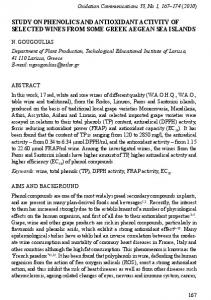 study on Phenolics and antioxidant activity of selected Wines from ...