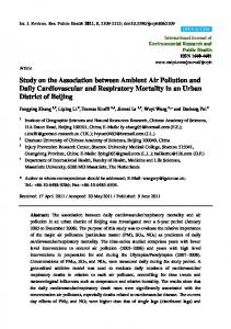 Study on the Association between Ambient Air Pollution and ... - MDPI