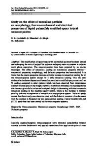Study on the effect of nanosilica particles on ... - Springer Link