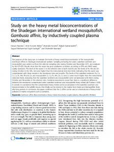 Study on the heavy metal bioconcentrations of the ... - Springer Link