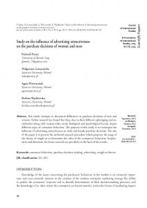 Study on the influence of advertising attractiveness on the purchase ...