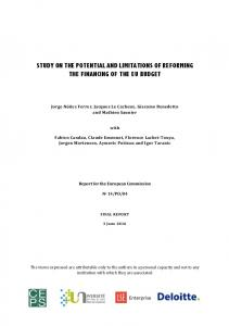 study on the potential and limitations of reforming the ...
