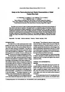 Study on the Thermochemical and Kinetic