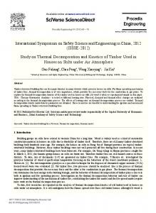 Study on Thermal Decomposition and Kinetics of ...