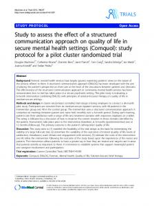 Study to assess the effect of a structured ...