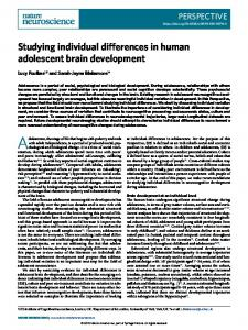 Studying individual differences in human