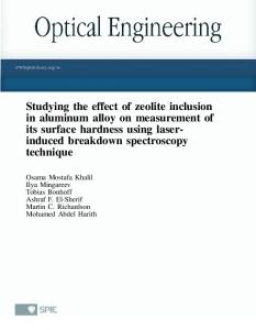 Studying the effect of zeolite inclusion in aluminum alloy on ...