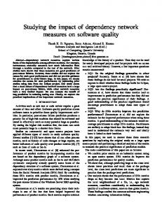 Studying the impact of dependency network measures on software ...