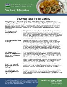 Stuffing and Food Safety - Food Safety and Inspection Service - US ...