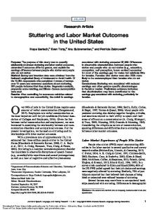 Stuttering and Labor Market Outcomes in the United