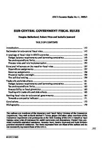 SUB-CENTRAL GOVERNMENT FISCAL RULES