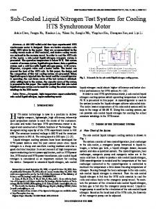 Sub-Cooled Liquid Nitrogen Test System for Cooling ... - IEEE Xplore