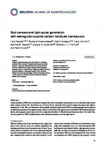 Sub-nanosecond light-pulse generation with waveguide-coupled ...