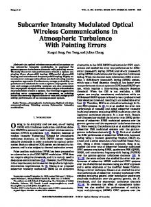 Subcarrier Intensity Modulated Optical Wireless ... - IEEE Xplore