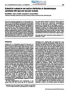 Subcellular potassium and sodium distribution in Saccharomyces ...