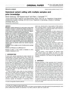 Subclonal variant calling with multiple samples and prior knowledge