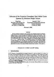 Subcodes of the Projective Generalized Reed ... - Semantic Scholar