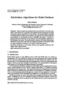 Subdivision Algorithms for Ruled Surfaces - Semantic Scholar