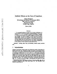 Subfield Effects on the Core of Coauthors