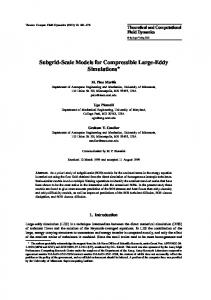 Subgrid-Scale Models for Compressible Large-Eddy Simulations