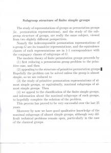 Subgroup structure of finite simple groups