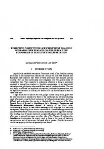 subjecting competition law exemptions to a rule of reason: new ...