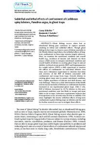 Sublethal and lethal effects of confinement of ...